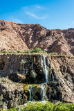 Ma'in hot springs waterfall jordan Stock Images