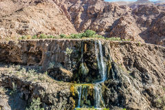 Ma'in hot springs waterfall Jordan Stock Photo