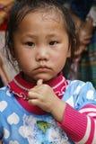Mała interrogative dziewczyna Fotografia Stock