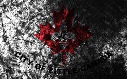 Mała Kanada miasta grunge flaga, Minnestoa stan, Stany Zjednoczone Zdjęcia Stock
