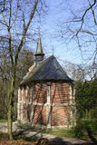 Mała katolicka kaplica w parku Flandryjski, Belgia Fotografia Stock