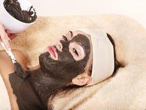 ma kobiet maskowych potomstwa ciało glina Obraz Stock