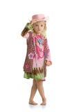 mała krowy dziewczyna Zdjęcia Royalty Free