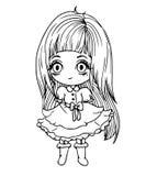 Mała lali dziewczyna Zdjęcia Royalty Free
