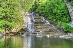 Maślanka spadki, Palcowi jeziora, NY Obraz Stock
