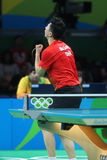 MA Long at the Olympic Games in Rio 2016. Ma Long from China Olympic Champion at the Olympic Games in Rio 2016 Royalty Free Stock Photos