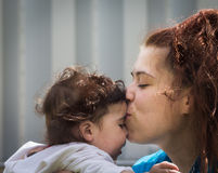 ma miłości matki dziecko zabawa Zdjęcie Royalty Free