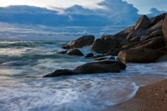 Mán tiempo en la playa Fotografía de archivo