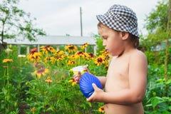 Mała ogrodniczka Zdjęcia Royalty Free