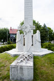 Małomiasteczkowy Cenotaph Fredericton, Kanada - Obraz Stock