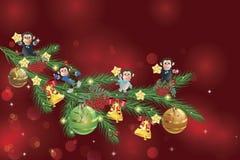 Małpa na drzewie royalty ilustracja