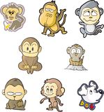 małpa set jeden Obraz Stock