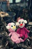 Małpa, symbol, inteligentna, handmade, trykotowa zabawka, Zdjęcie Royalty Free