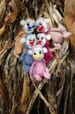 Małpa, symbol, inteligentna, handmade, trykotowa zabawka, Fotografia Royalty Free