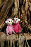 Małpa, symbol, inteligentna, handmade, trykotowa zabawka, Obrazy Royalty Free