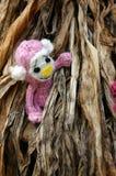Małpa, symbol, inteligentna, handmade, trykotowa zabawka, Fotografia Stock