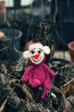 Małpa, symbol, inteligentna, handmade, trykotowa zabawka, Zdjęcia Stock