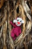 Małpa, symbol, inteligentna, handmade, trykotowa zabawka, Zdjęcia Royalty Free