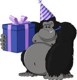 Małpa z prezentem Zdjęcie Stock