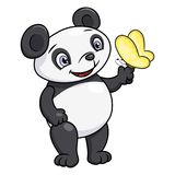 Mała panda i motyl Obraz Royalty Free