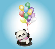 Mała panda z balonami Fotografia Stock