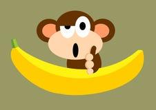 Małpi banan Obraz Royalty Free