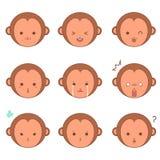 Małpi emoticons Fotografia Royalty Free