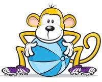 małpi gracz Obrazy Royalty Free