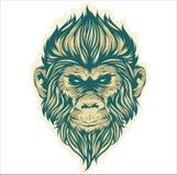Małpi kierowniczy wektorowy projekt ilustracja wektor