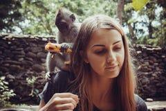 Małpi las w Ubud, Bali Obraz Royalty Free