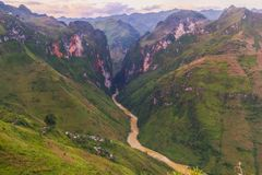 On Ma Pi Leng pas. S, above Nho Que river in Van highland, Vietnam Royalty Free Stock Photos