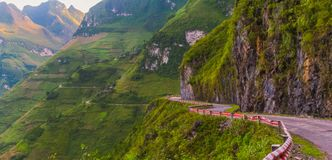 On Ma Pi Leng pas. S, above Nho Que river in Van highland, Vietnam Royalty Free Stock Photography