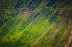 On Ma Pi Leng pas. S, above Nho Que river in Van highland, Vietnam Stock Image