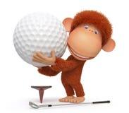 Małpi sztuka golf Fotografia Stock