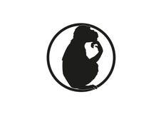 Małpia minimalna ilustracja Fotografia Royalty Free