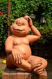 Małpia statua Obraz Royalty Free