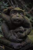 Małpia statua Fotografia Stock