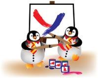 ma pingwiny dziecko zabawa Obraz Royalty Free