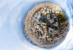 ma?a planeta Widok z lotu ptaka Limassol śródmieście Cypr zdjęcia royalty free