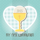 Ma première communion Image libre de droits