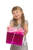 mała prezent dziewczyna Zdjęcie Royalty Free
