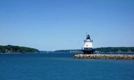 Mała, prosta latarnia morska, Obrazy Royalty Free