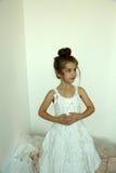 Mała rocznik dziewczyna Fotografia Stock