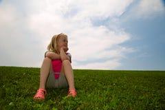 mała rojenie dziewczyna Obraz Royalty Free