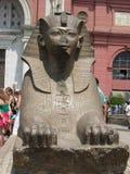 Mała sfinks statua blisko Egipskiego muzeum w Kair, Egipt Zdjęcia Royalty Free