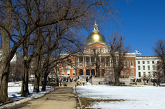 MA State House stock photography