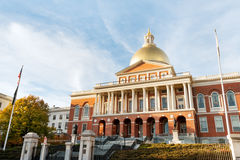 MA Statehouse. Massachusetts State house on Beacon Hill, downtown Boston Royalty Free Stock Photos