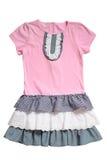 Mała suknia dla dziewczyn Obraz Stock