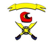 hełma symbol Zdjęcia Royalty Free