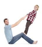 ma syna ojciec zabawa Zdjęcie Stock